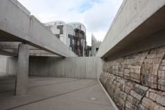 Looking towards the Scottish Parliament
