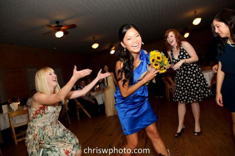 My bouquet catching efforts continue unrecognized