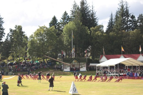 The Royal Family, caber tossing, and tug-of-war. Perfection!
