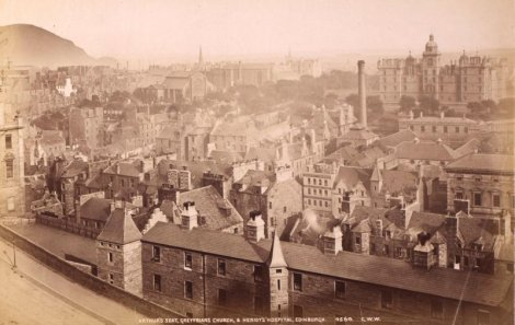 view of Edinburgh from the Castle circa 1900; photo courtesy of RCAHMS