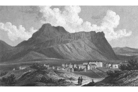 a view of Arthur's Seat in 1829