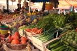 fresh veg at the market