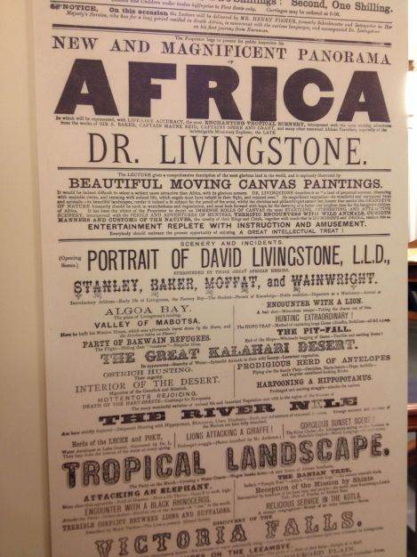 There's also a nice free exhibit at the National Library on Dr. Livingstone