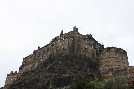 view of the Castle from Grassmarket, taken during my tour